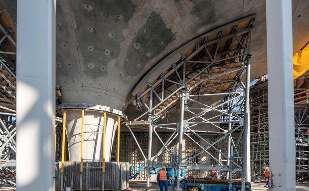 Aus Zement und Beton auch die Kelchstützen des S-21-Tiefbahnhofs. Foto: Joachim E. Röttgers