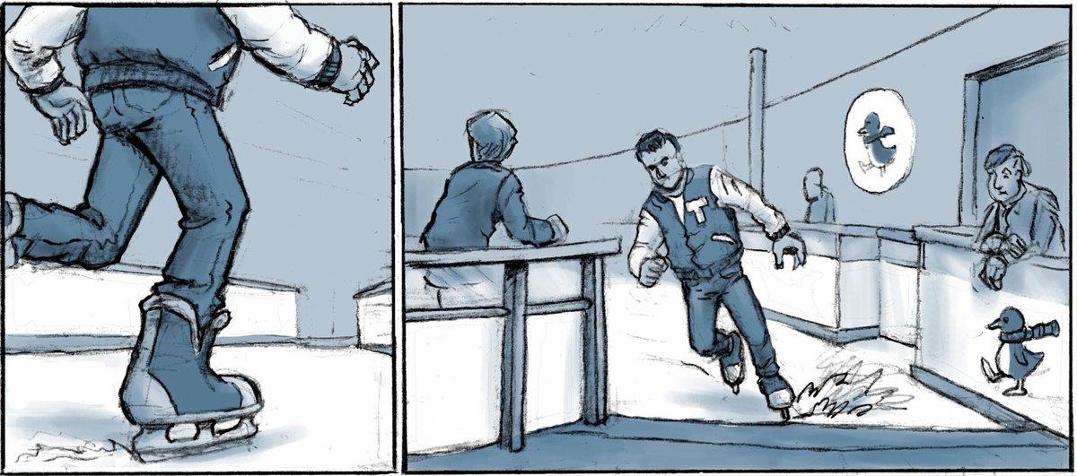 comic schwarz dargestellt