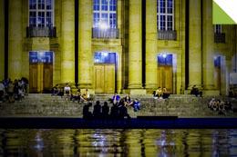 Eckensee vor der Stuttgarter Oper
